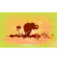 background with elephant and birds vector image vector image