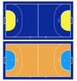 handball court isolated vector image vector image