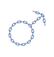 blue chain in shape of male symbol vector image