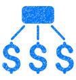 financial scheme grunge icon vector image