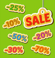 Set of wooden price tags vector image vector image