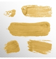 Gold Texture Paint Stain  EPS 10 vector image