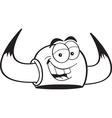 Cartoon Viking Helmet vector image