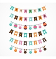 Easter decoration brush garlands vector image