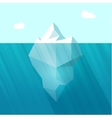 Iceberg big berg in ocean vector image