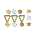 Winner Medal Set vector image