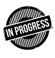 In progress rubber stamp vector image vector image