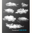 transparent set of cloud vector image vector image