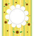 A stationery with sunflowers vector image vector image
