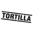 Square grunge black tortilla stamp vector image