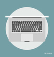 Top view of modern laptop vector image