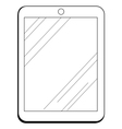 internet tablet vector image vector image