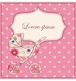 Background with baby carriage vector image