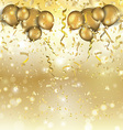 gold balloons and confetti background 0305 vector image