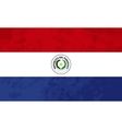 True proportions Paraguay flag with texture vector image