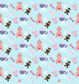 baby girl pattern vector image