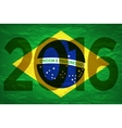 Background colors of the Brazilian flag with the vector image