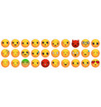 emoticons or smiley icons set vector image