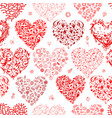 seamless pattern with valentine hearts for your vector image