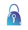 silhouette padlock security and protect icon vector image