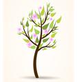 Spring blossom tree vector image