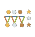 Winner Medal Set vector image