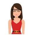 Young and beautiful woman cartoon vector image
