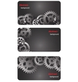 eps10 brochure business card banner metal glass vector image vector image