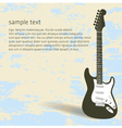 Guitar Page vector image