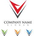 V leter logo template vector image