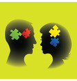 Couple puzzle vector image