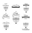 Set of hand drawn hannukah menorah vector image