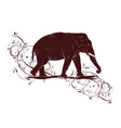 elephant sketch decorated floral design vector image