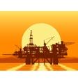 Sea oil rig Offshore drilling platform vector image vector image