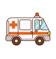 Ambulance car isolated on white background vector image vector image