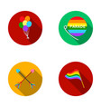 balls gay parade arrows flag gayset collection vector image