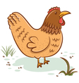 Beautiful hen vector image