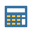 calculator accounts operation financial device vector image