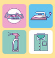 Icon set laundry cleaning delicate vector image