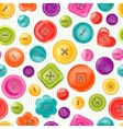Seamless print with colorful buttons vector image