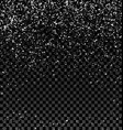 silver grainy abstract texture on a dark checkered vector image