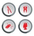 Teeth dentist stomatologist icon set Medicine vector image
