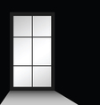 window on black vector image