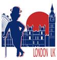 Gentleman with London background vector image