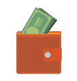 wallet icon flat design vector image