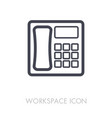 Phone outline icon workspace sign vector image
