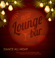 Vintage poster Lounge club vector image