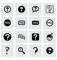 faq icon set vector image
