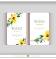 Set of abstract watercolor cards vector image vector image