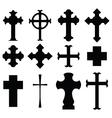types of cross vector image